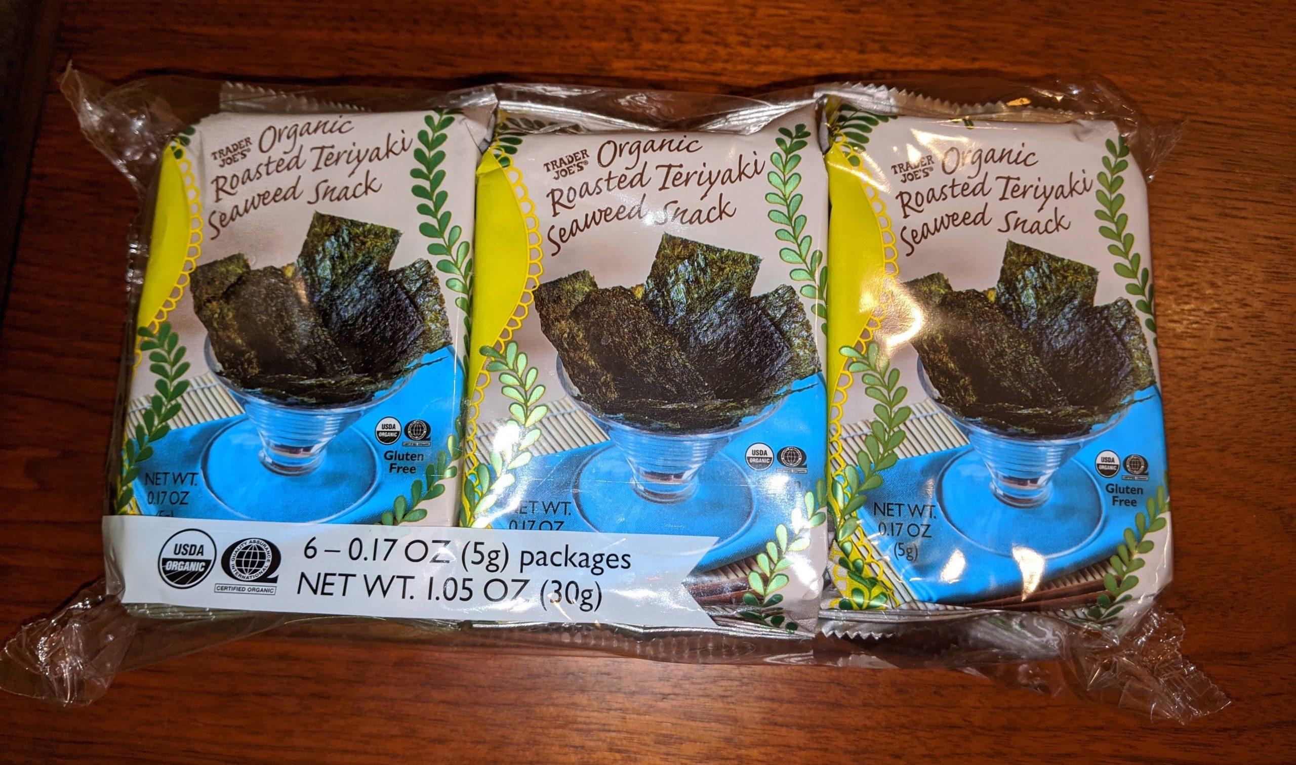 roasted teriyaki seaweed snack