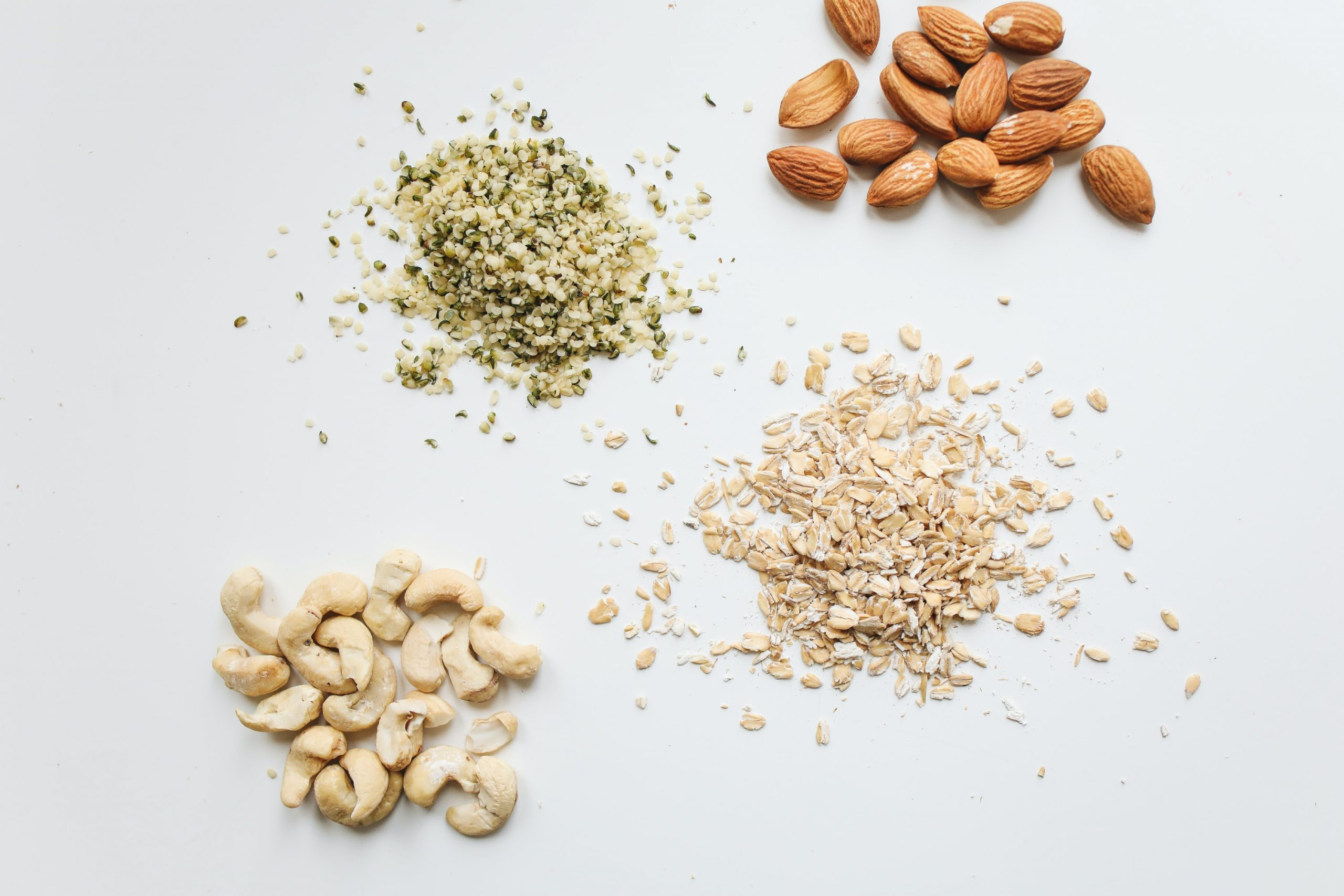 Oats, nuts, and seeds